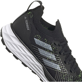 adidas TERREX Two Parley Trail Running Shoes Men core black/feather white/solar yellow